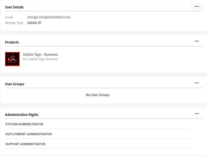 Adobe Document Cloud feature administration
