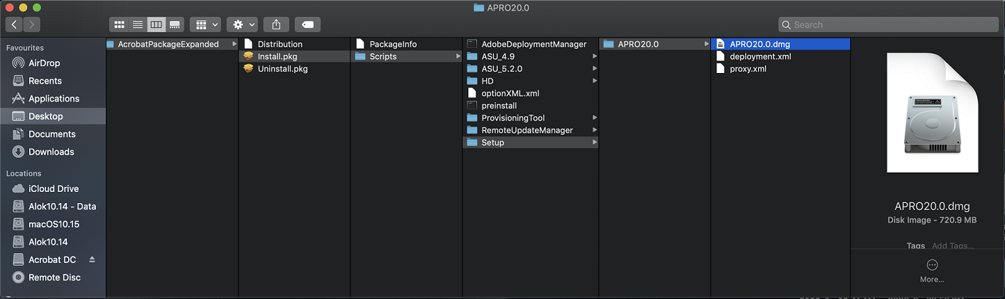 APRO file extract from package contents