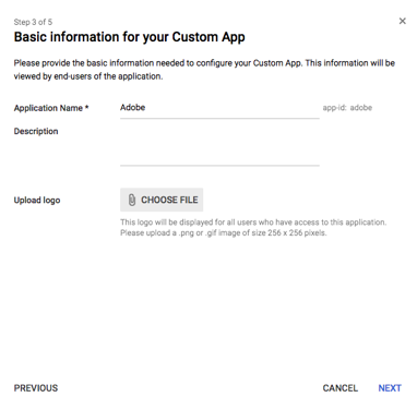 Basic Information for your Custom App
