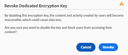 Revoke Dedicated Encryption Key