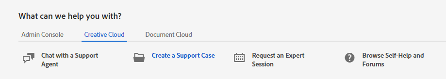 Create a Support Case