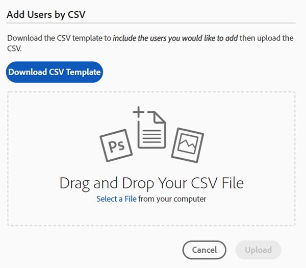 Add Users by CSV