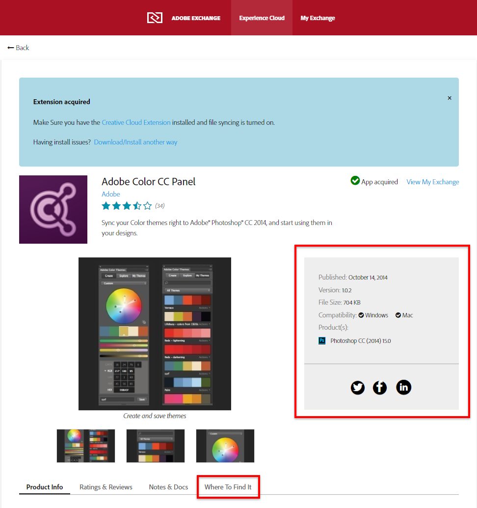 Troubleshoot Adobe Exchange for Creative Cloud