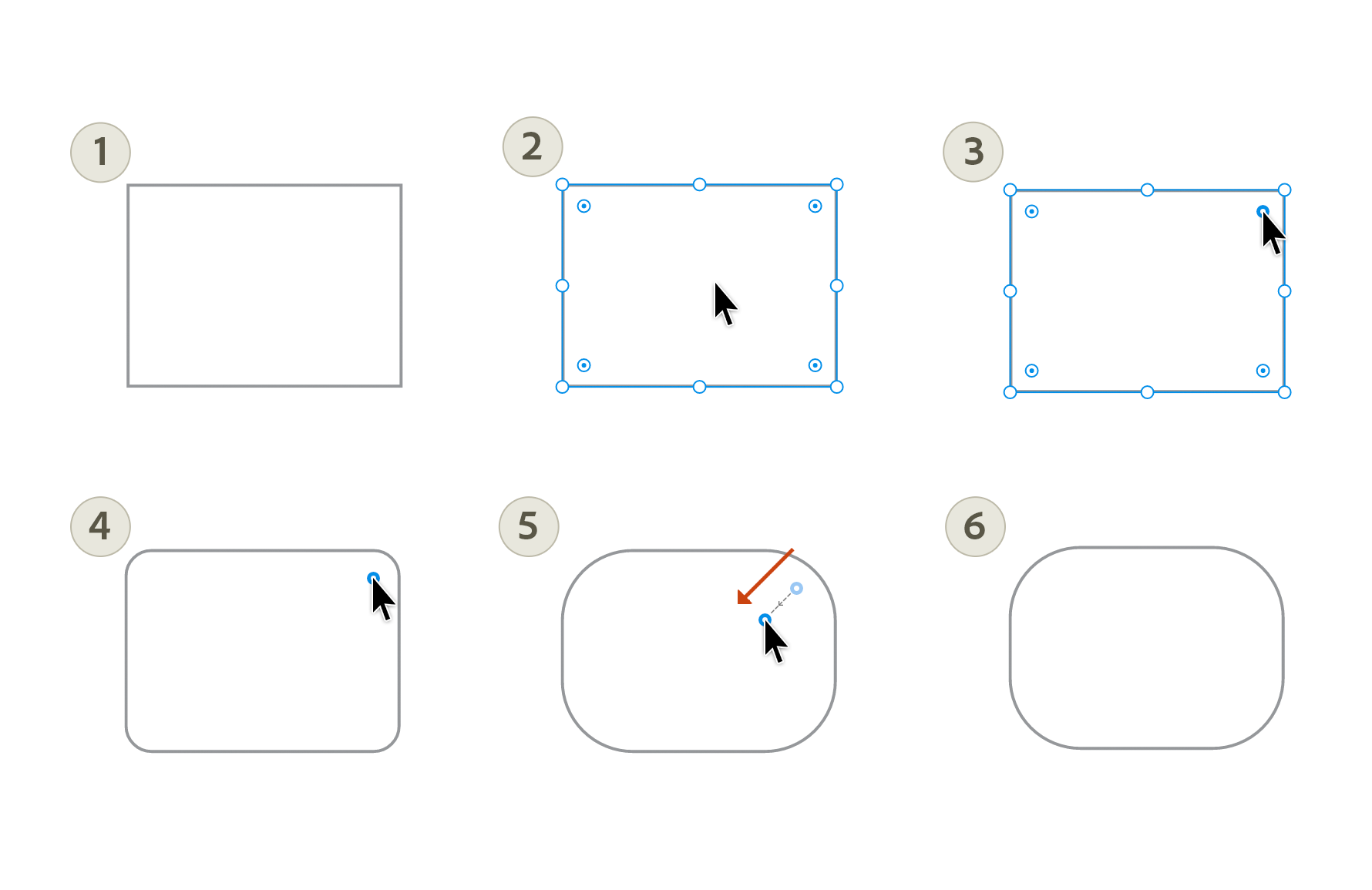 Draw rounded rectangles and squares