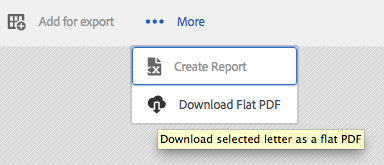 Custom functionality: Download Flat PDF