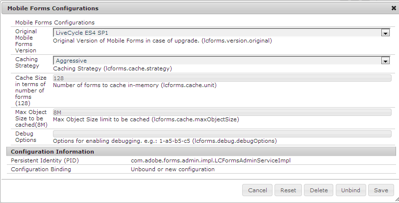 Forms Configuration