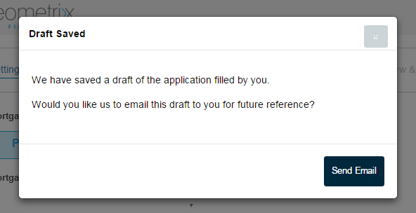 Saving a draft application