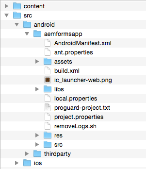 AEM Forms app project under Android folder