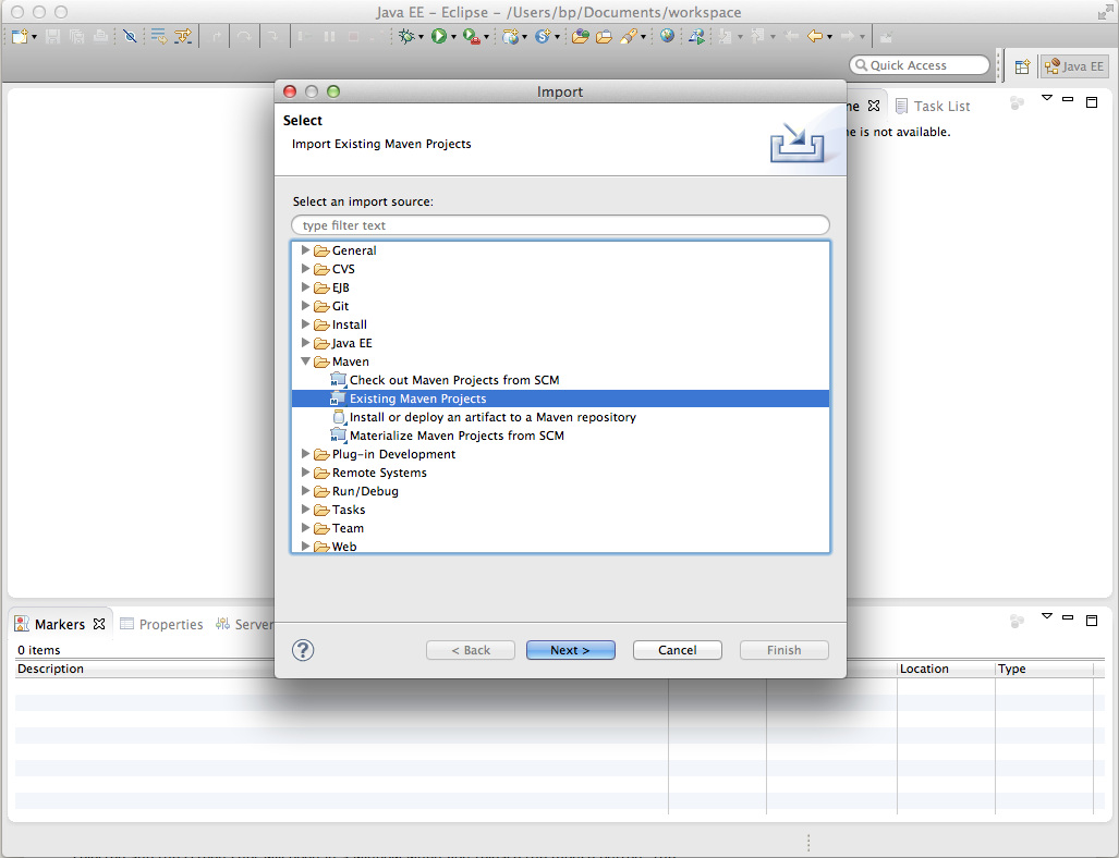 import maven project into eclipse