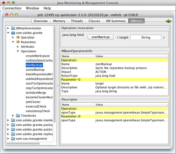 Monitoring Server Resources Using the JMX Console