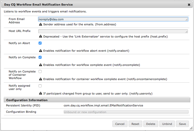 Configuring Email Notification