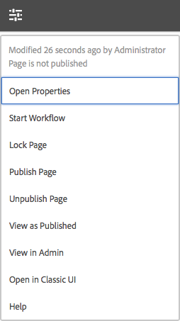 Editing Page Properties