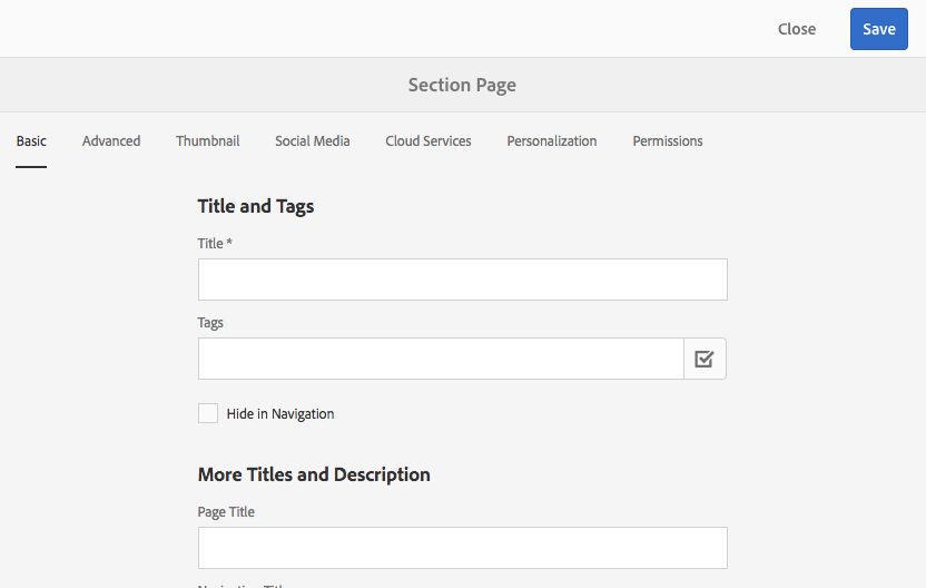 Creating Page Templates