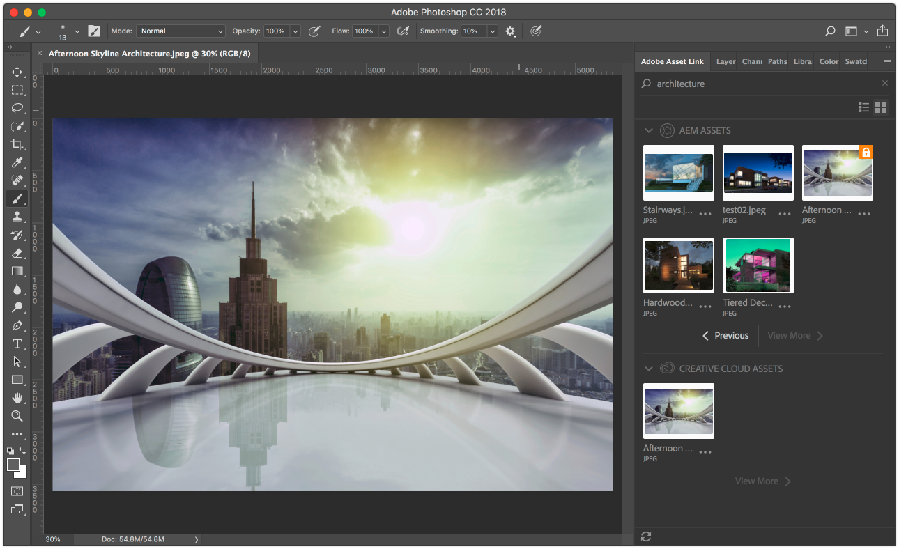 Adobe Asset Link in Photoshop CC