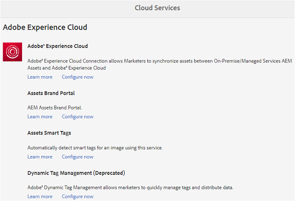 Adobe Experience Cloud サービス