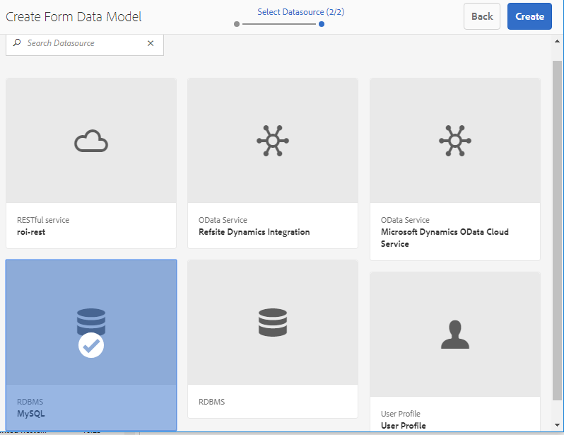Create form data model for Interactive Communication