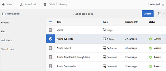 Download-asset-report