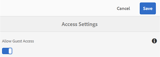 Enable-guest-access
