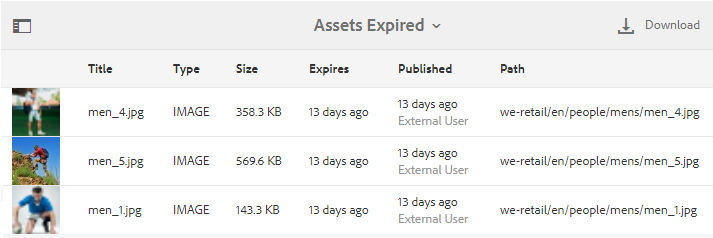 Assets-expired
