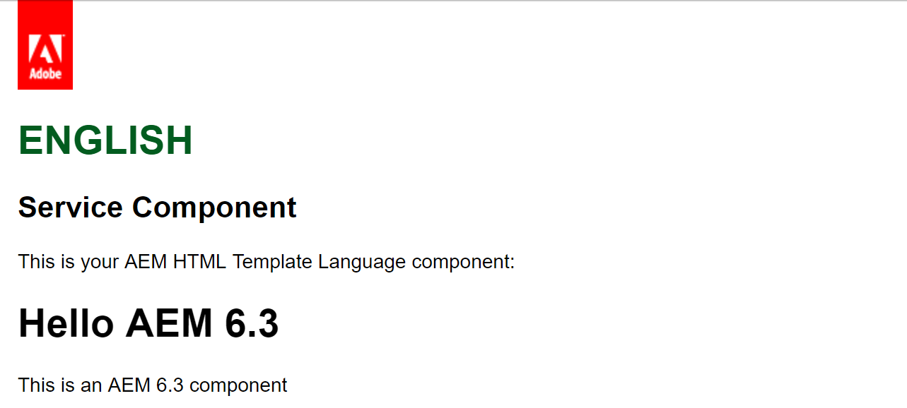 Creating an Adobe Experience Manager 6 3 HTL component that