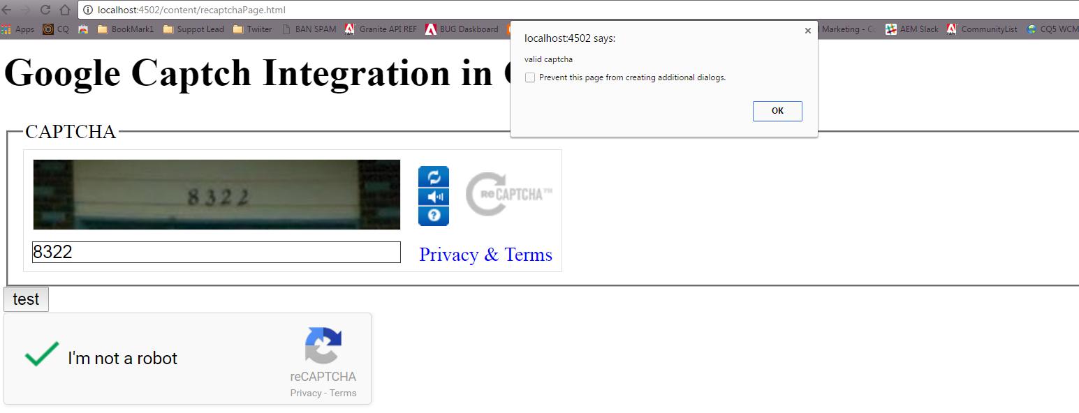 Adding Google reCAPTCHA to an AEM web site