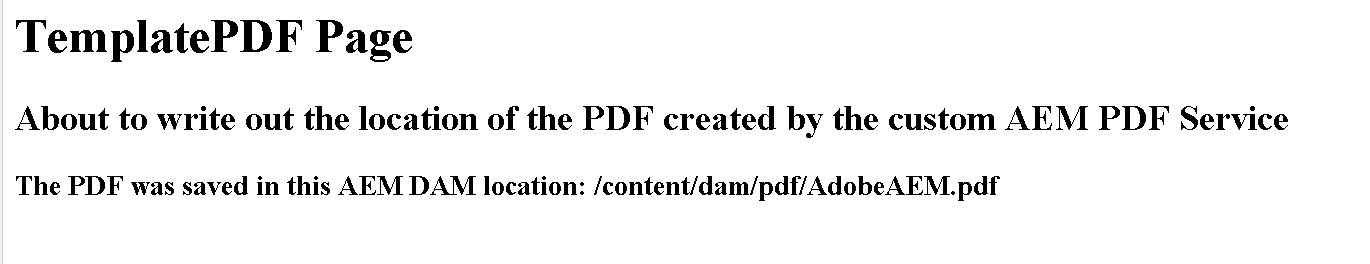 Creating a custom Adobe Experience Manager PDF service