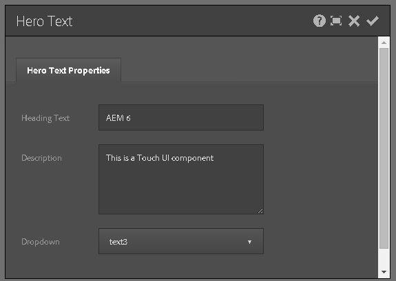 Using Granite DataSource objects to populate AEM Touch UI