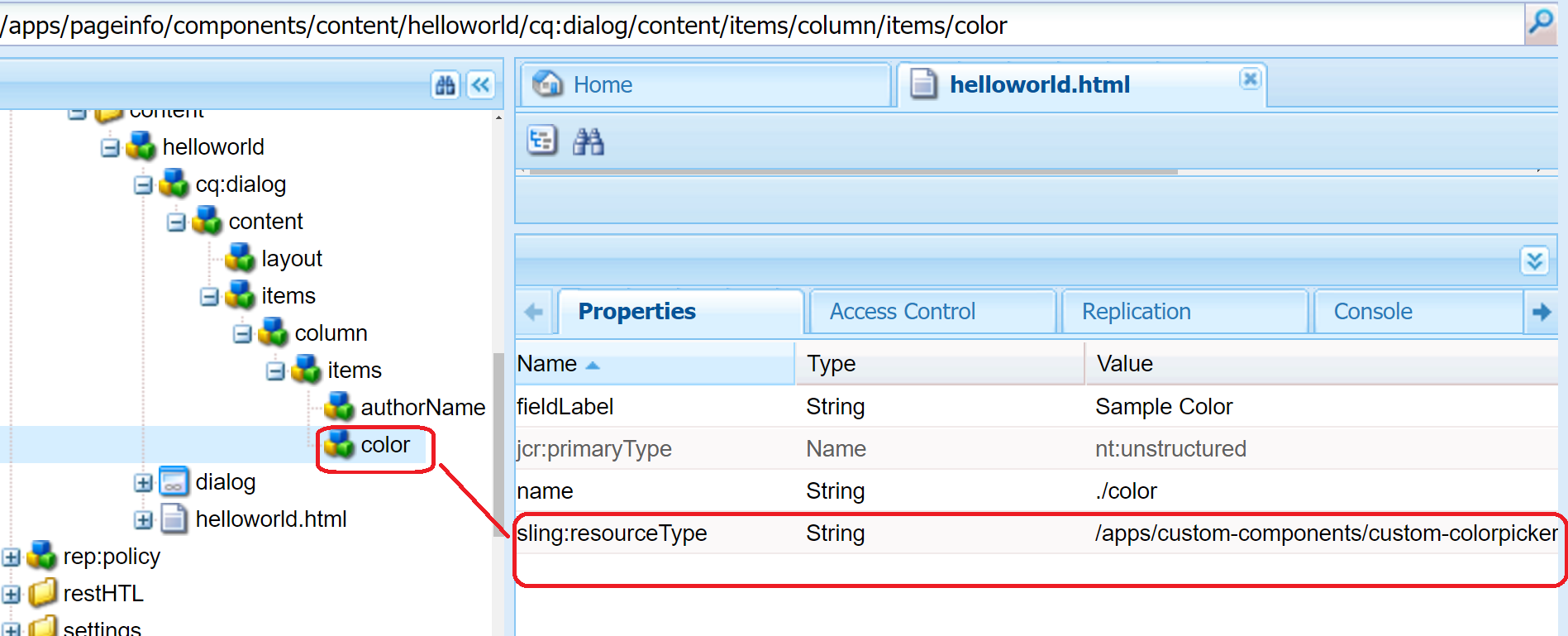 Creating a custom Experience Manager sling:resourceType for