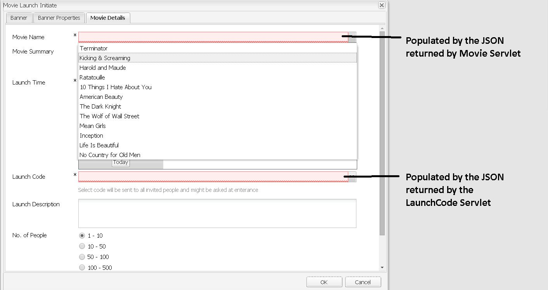 Populating AEM Component Dialog fields using JSON data