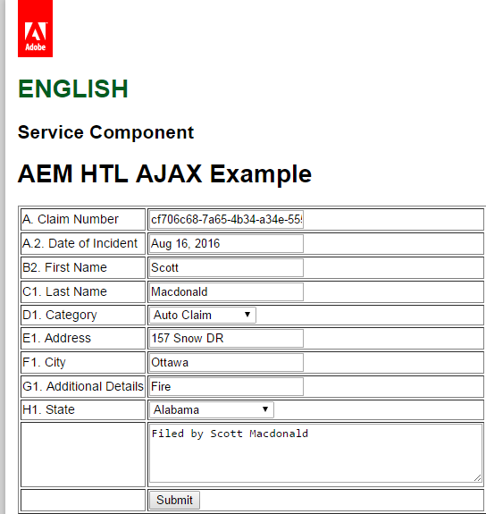 Using To Acces Property Value Aem