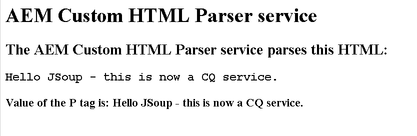Creating a HTML Parser Service for Adobe Experience Manager