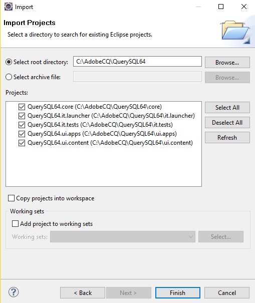 Querying MySQL data using an Adobe Experience Manager 6 4