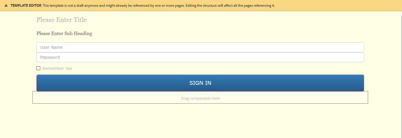 Creating a Login Component for the Experience Manager Weekend Site