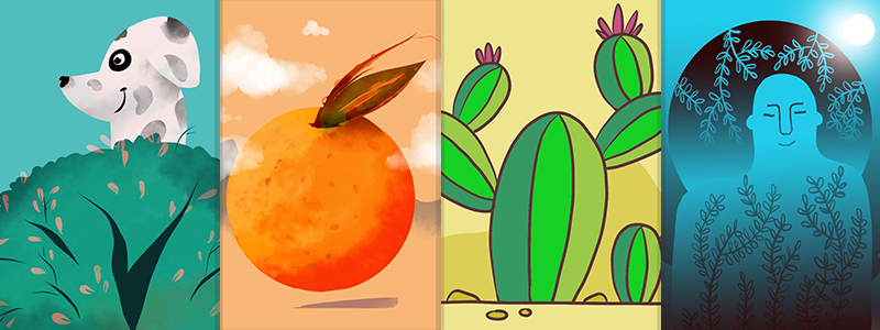 Simple, high-quality illustrations created with Adobe Fresco