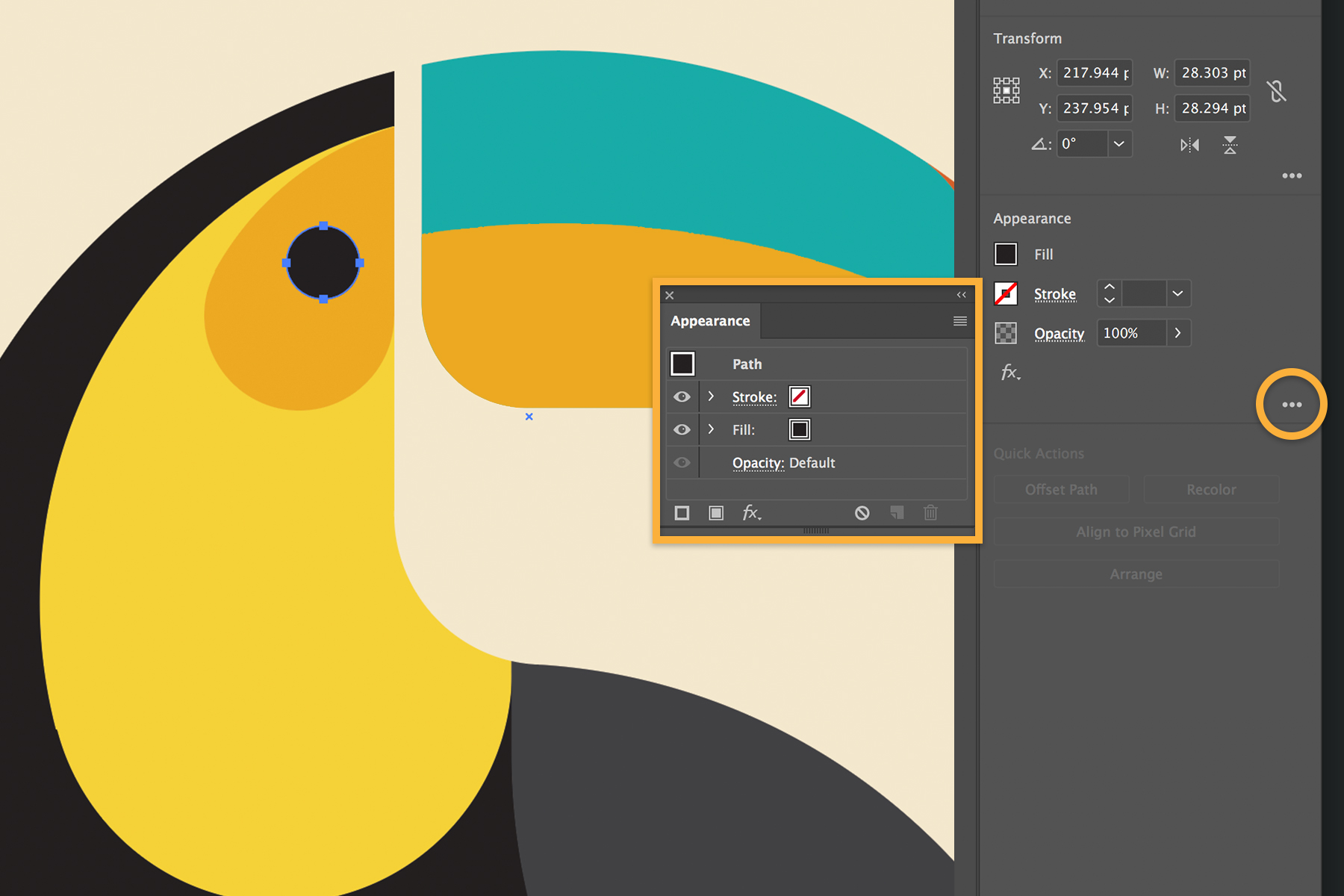 how to see page size illustrator