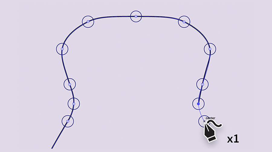 Drawing a guitar body shape using single-clicks