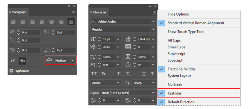 Arabic and Hebrew type in Illustrator