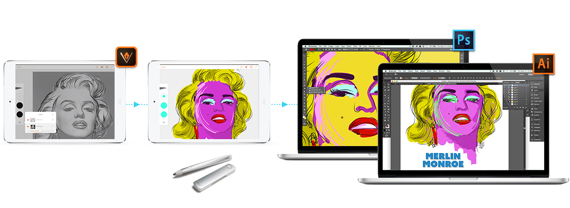 Start on an iPhone or iPad, refine and finish on your desktop