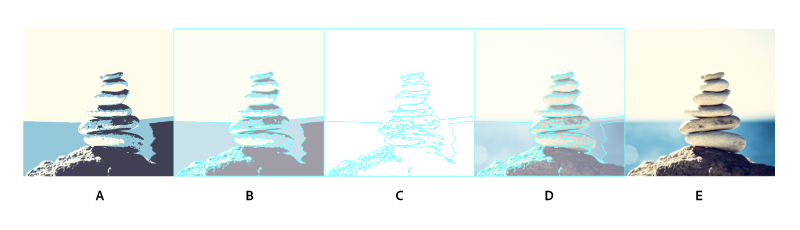 Choose a view of the traced object