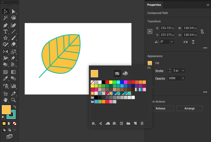 how to paint with fills and strokes in illustrator