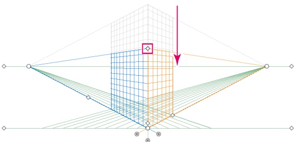 Adjusting the grid extent to decrease the vertical grid extent