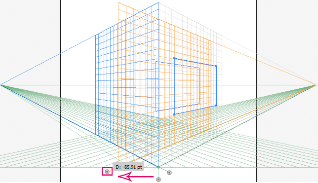 Moving a rectangle in perpendicular by dragging the right grid plane