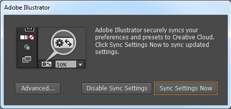 Sync Settings prompt on the very first launch
