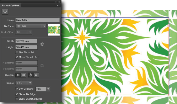 Create or edit a pattern with the new Pattern panel