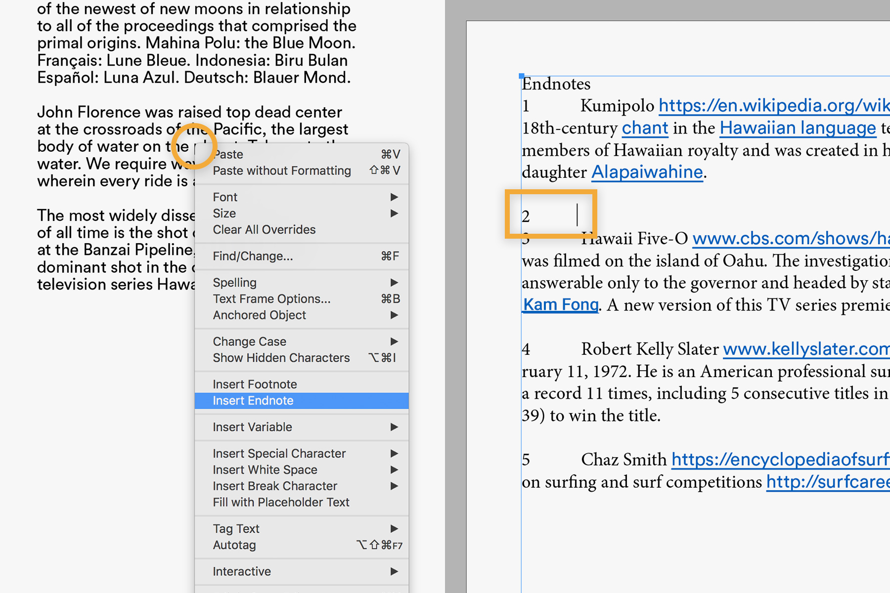 How To Add Endnotes To A Document Adobe Indesign Cc Tutorials