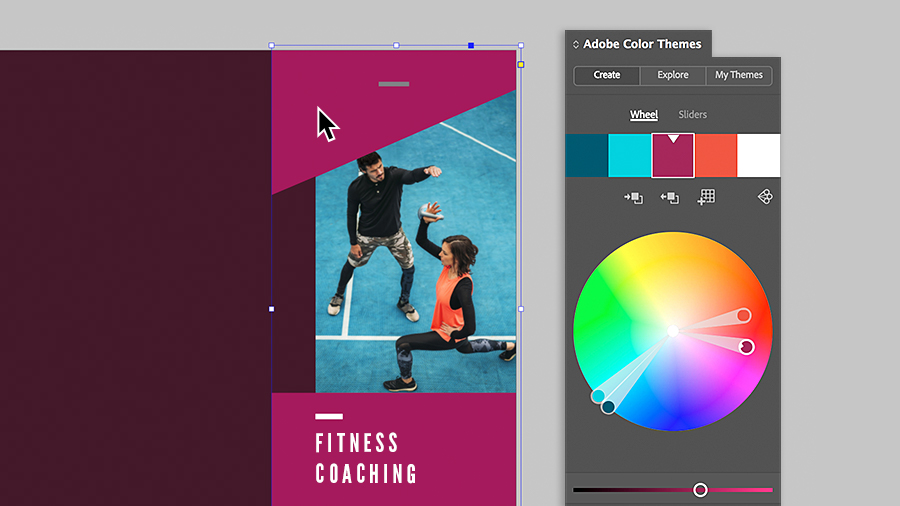 Using the Adobe Color Themes panel to select colors