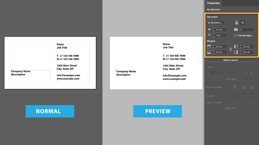 Adobe Business Card Template from helpx.adobe.com