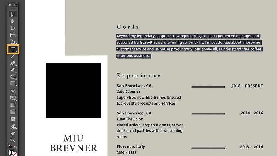 Create A Professional Resume Adobe Indesign Tutorials