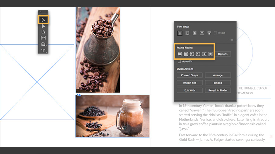 Resize Content In A Frame In Indesign Adobe Indesign Tutorials