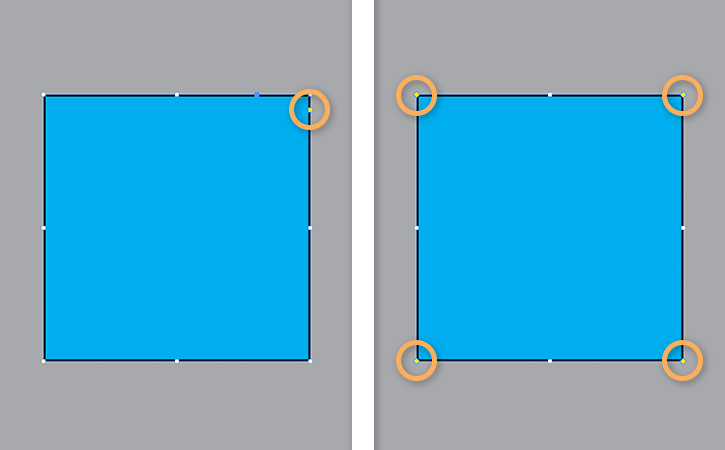 How to round the corners of a square, rectangle, or frame in ...